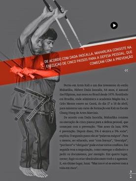 Descrição do Arnis Kali e foto do Mestre Dada com bastões